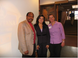 Paul Rusesabagina with sponsor Geri Bellino, and Carmen McSpadden