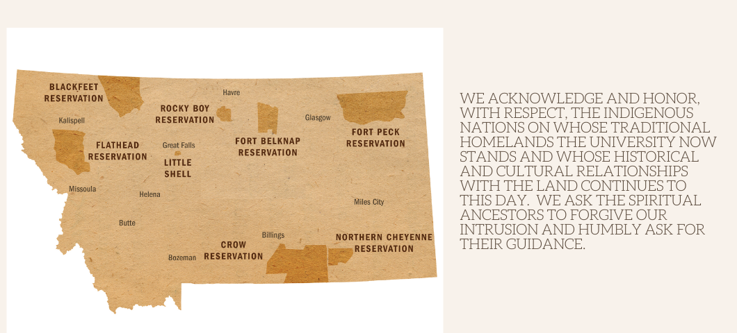 Map of the Native Lands with the Land Acknowledgement