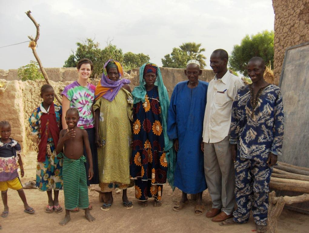 Wendy Nickisch with People of Sanambele Mali