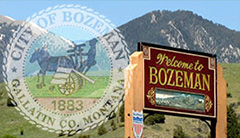 city of bozeman road sign