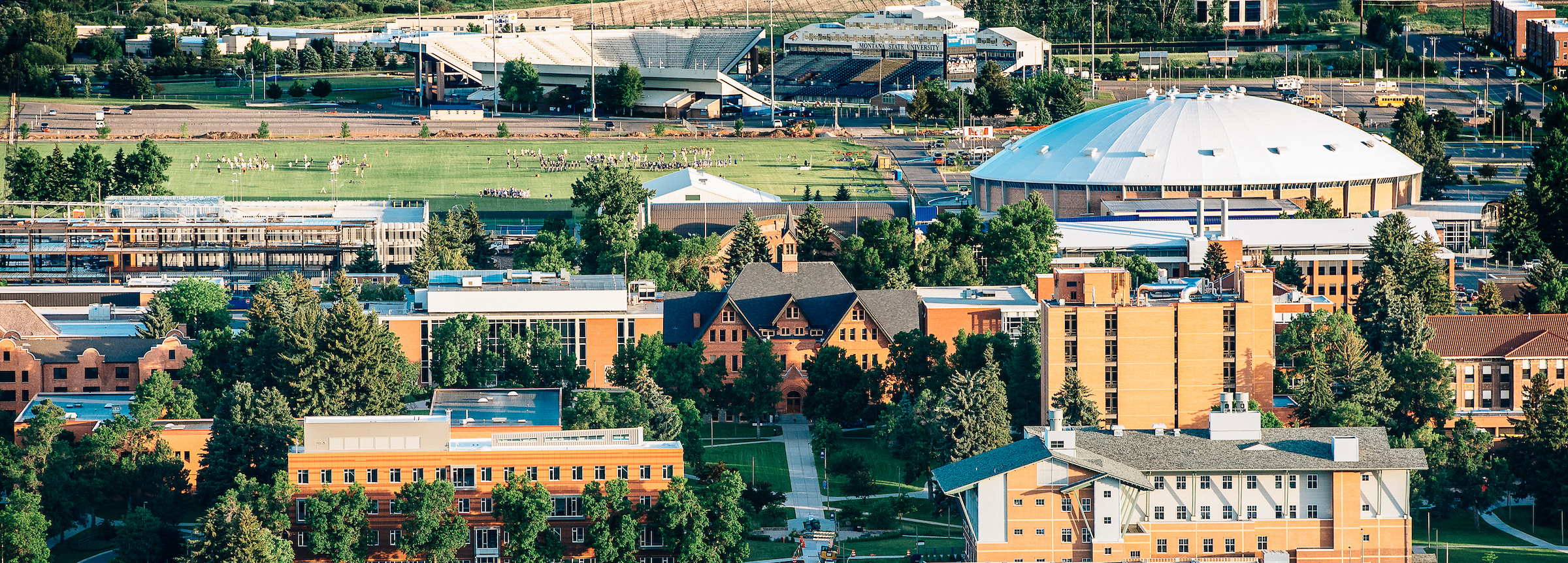 2017 Montana State University campus aerial