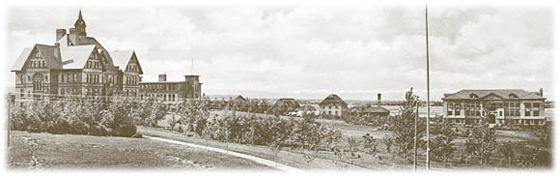 Montana State University campus in 1893