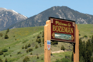 Bozeman welcome sign