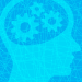 Brain with gears icon