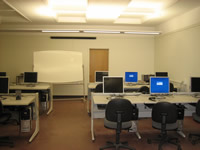 photo of computer workstations