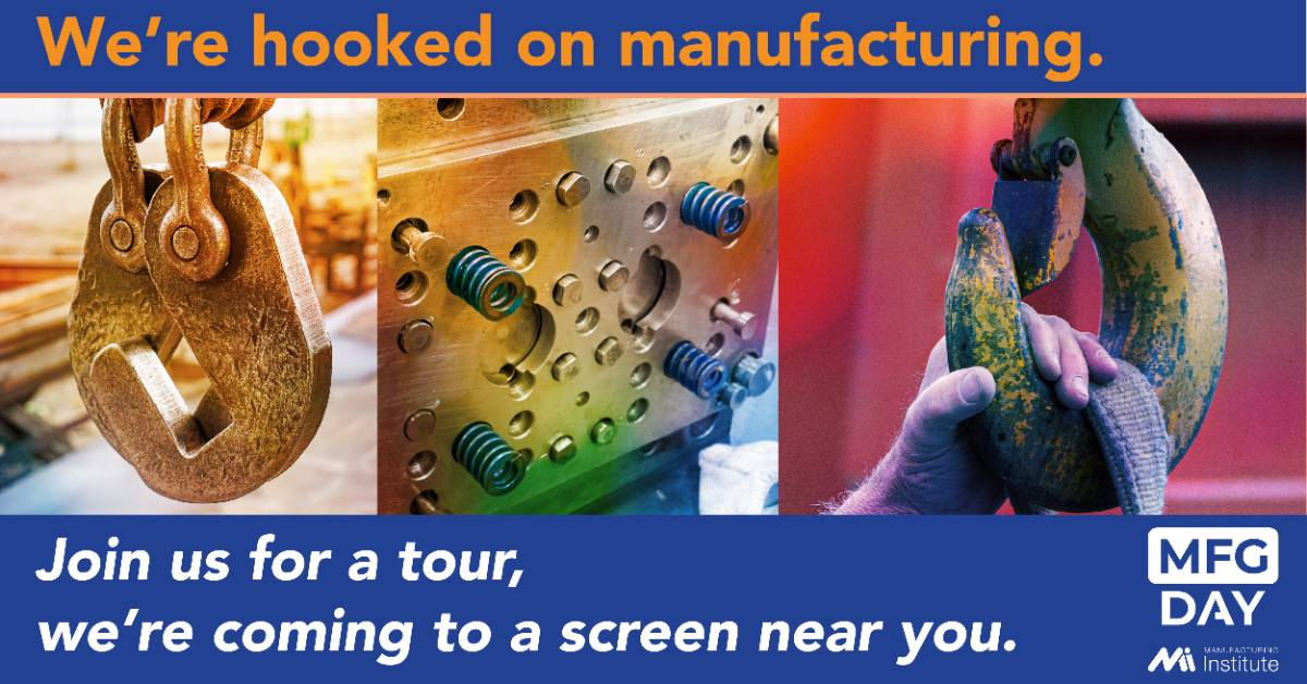 we're hooked on manufactuing, it only takes a screen and a connection to visit the world of manufacturing.