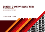 Report Cover 2016 Montana Manufacturers Survey