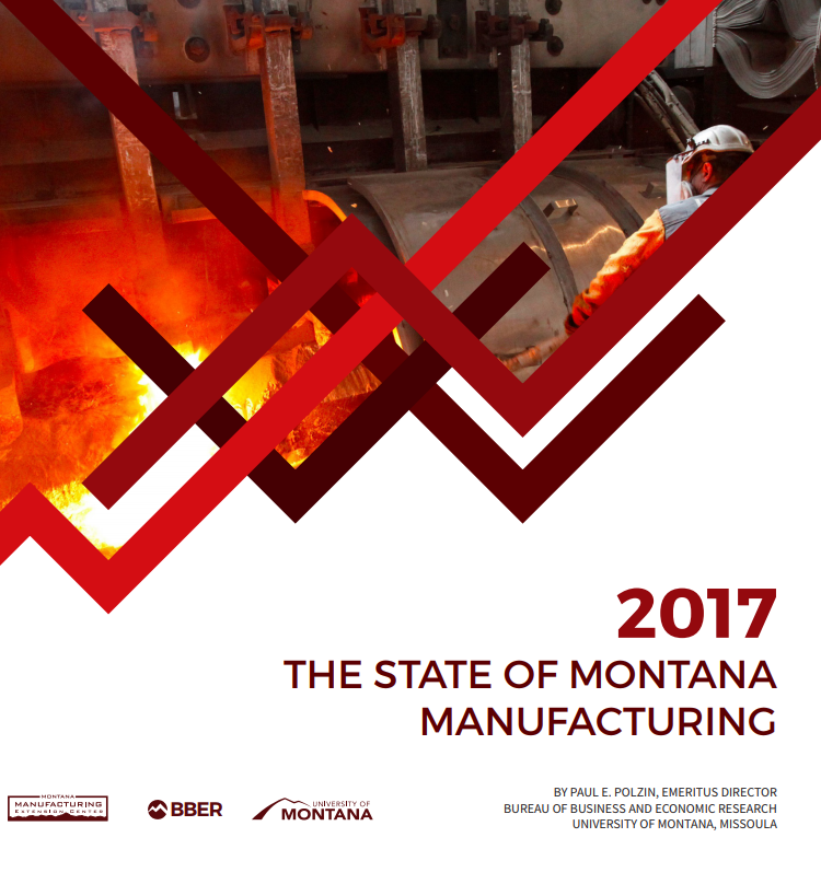 Cover of report, metal working in background