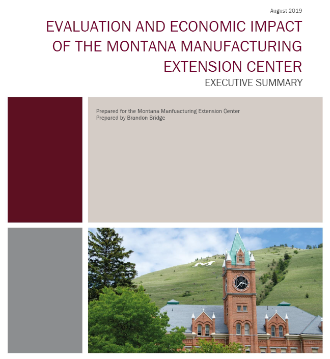 Evaluation and economic impact of the montana manufacturing extension center. An Executive summary prepared for MMEC by Brandon Bridge with U of M's Bureau of business and economic research.