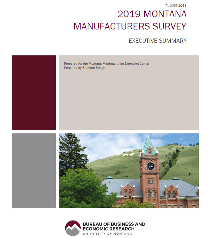 The Bureau of Business & economic Research of the University of Montana prepared the 2019 Manufacturers survey execurive summary for MMEC. The report was prepared by Brandon Bridge.