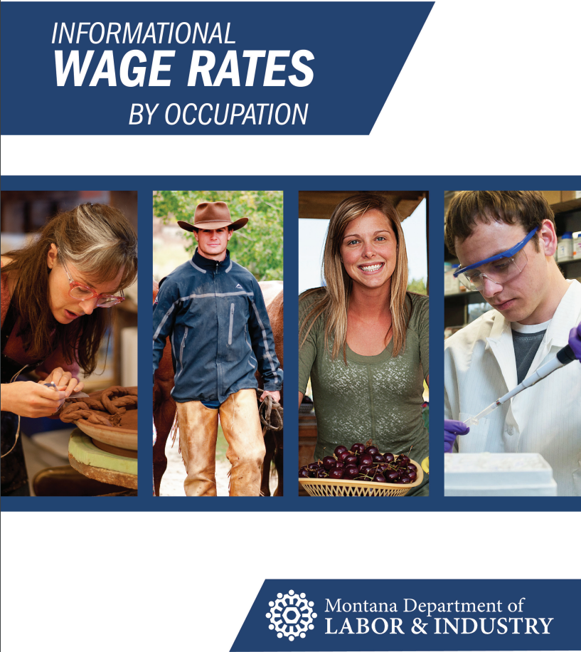 Report Cover of different occupations, including a fabric, ranch, grower, and lab engineer.