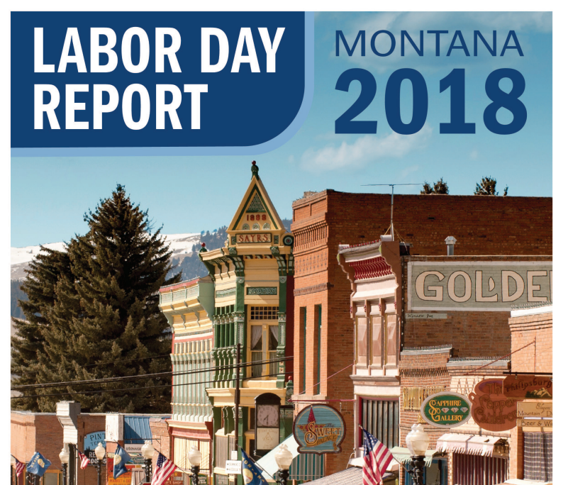 Cover of the labor day report Small town Montana