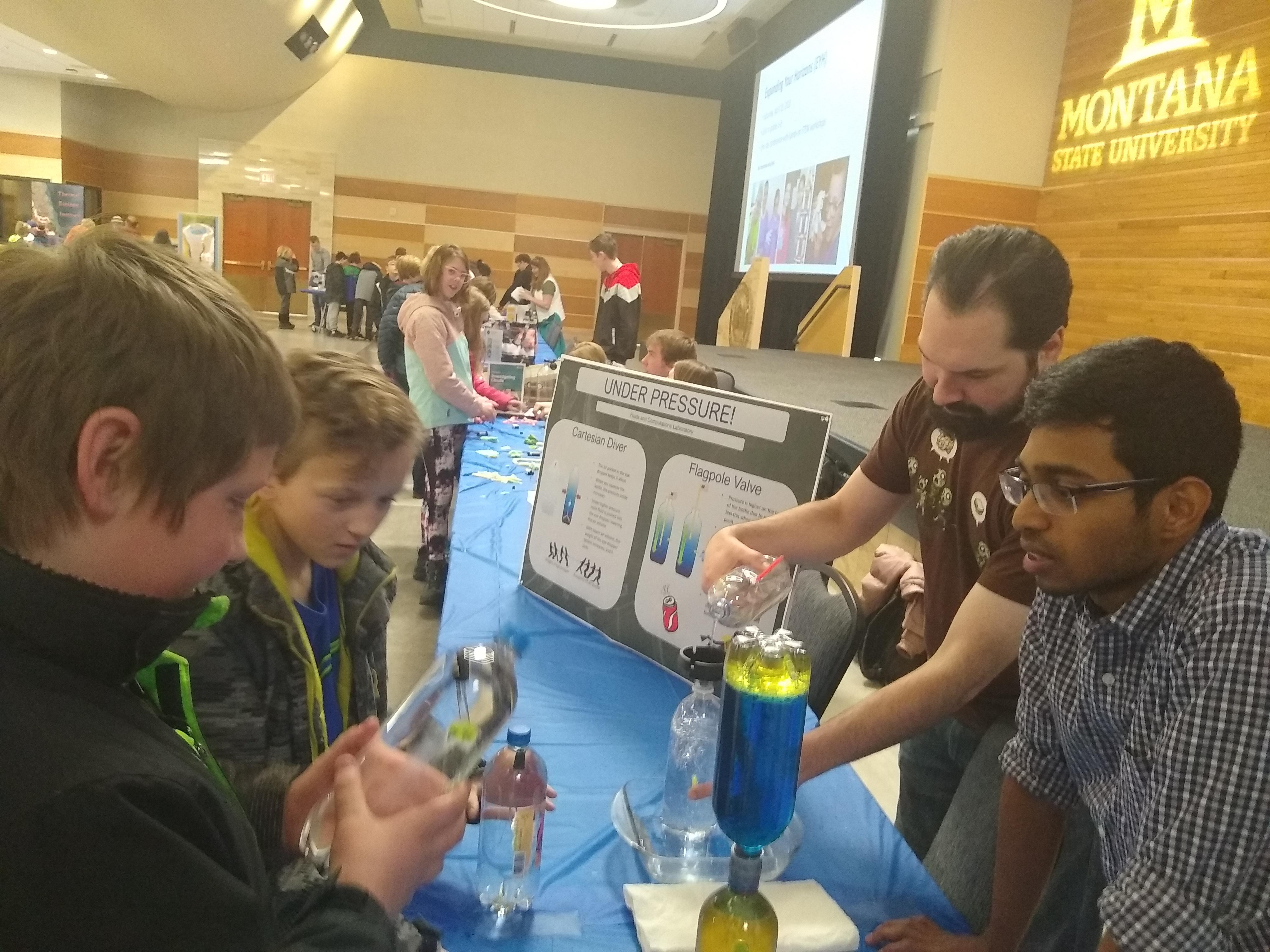 Owkes lab at MSU Family Science Day