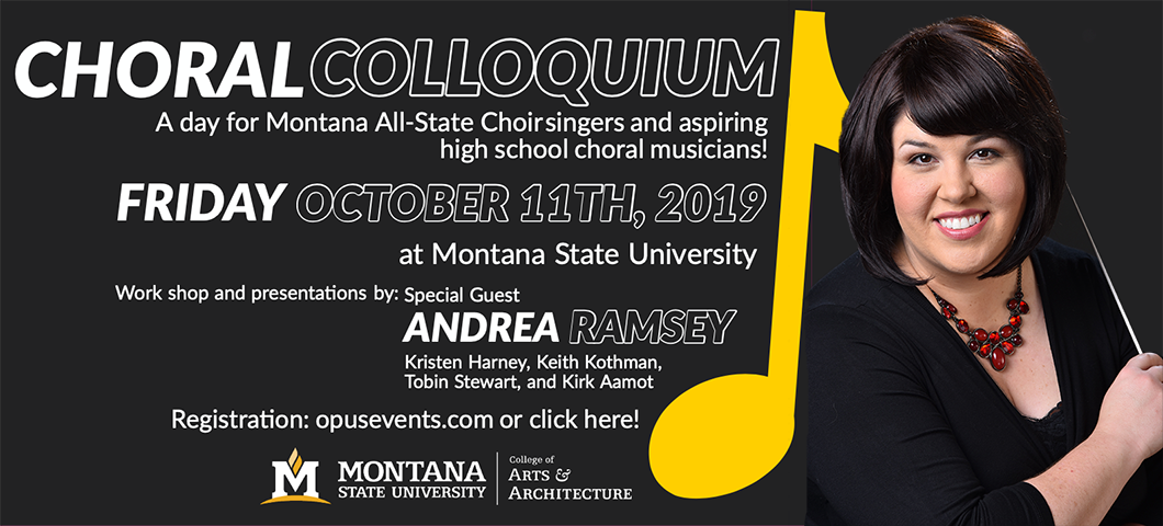 Join us for the Choral Colloquium, October 11th, 2019.