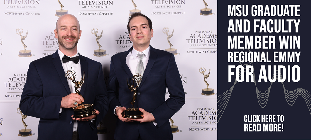MSU Graduate and Faculty Member win Regional Emmy