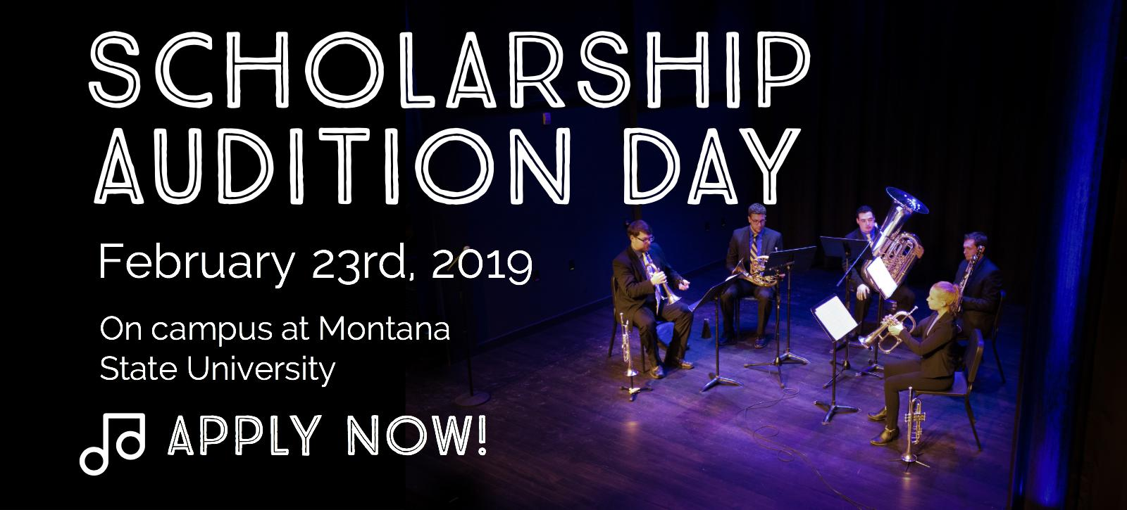 Scholarship Audition Day, Apply Now!