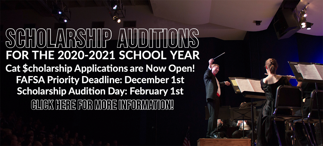 Scholarship Audition Day Information