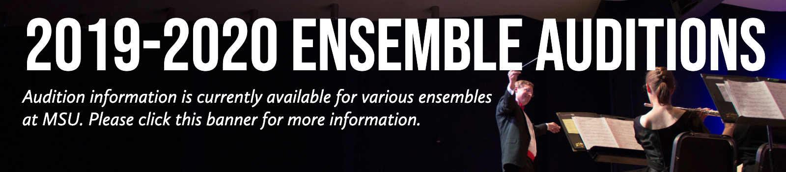 Click here for ensemble Audition Information
