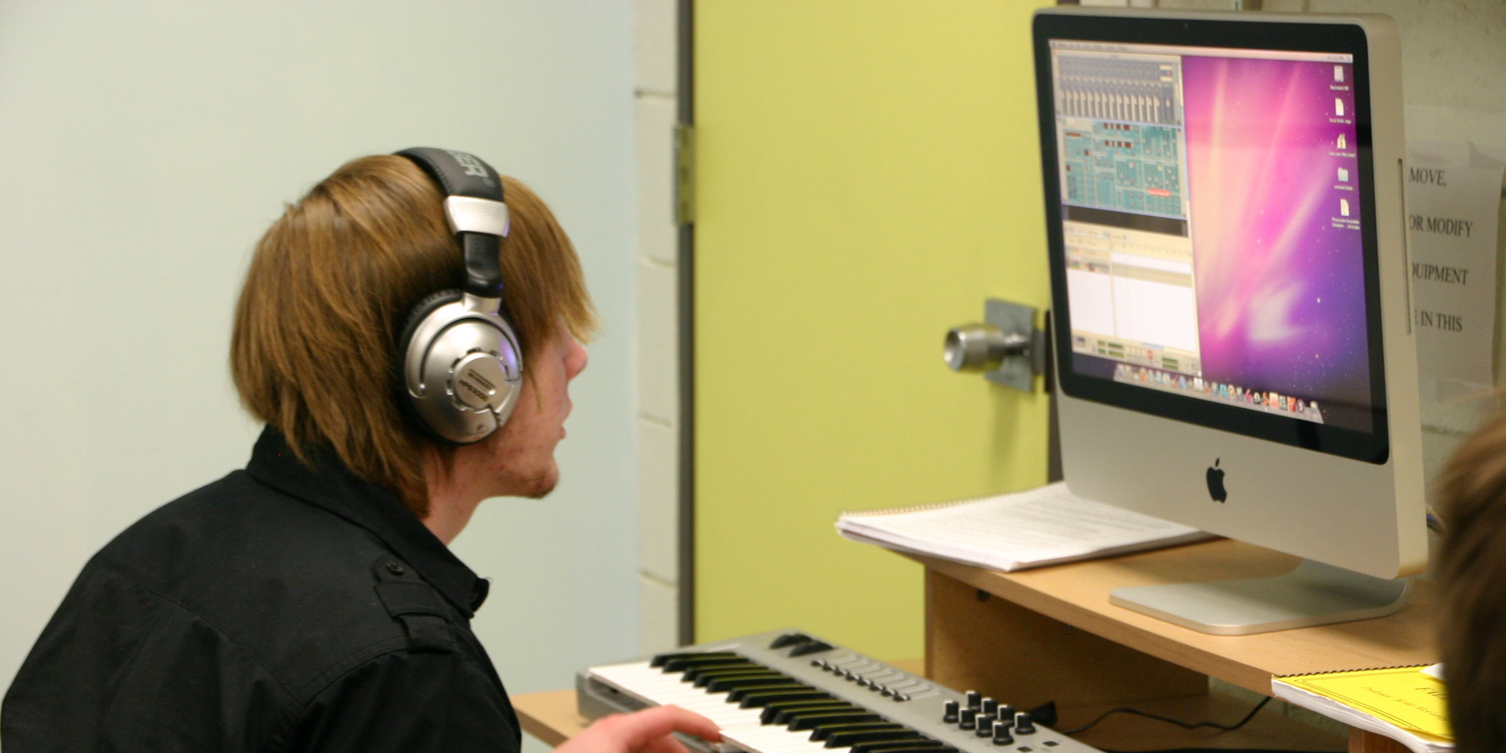 Music Technology Student Working