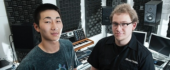 Music Technology Student in Studio A