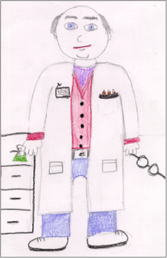 Drawing of Scientist