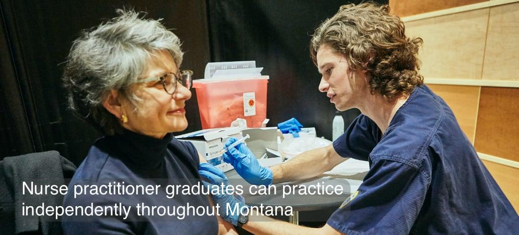Nurse practitioner graduates can practice independently throughout Montana