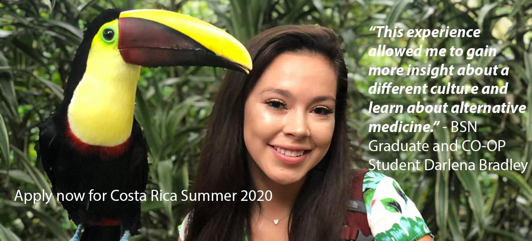 Apply now for Costa Rica Summer 2020