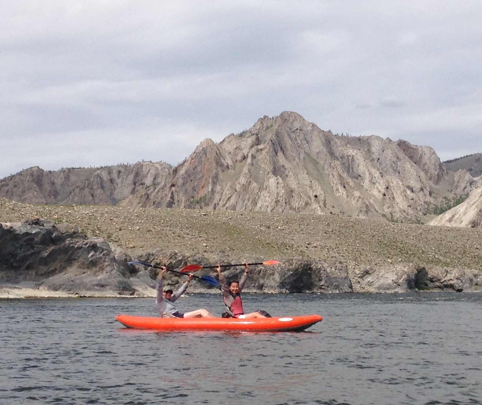 MSU and MNUMS faculty and students take on white water river kayaking in northern Mongolia, 2017
