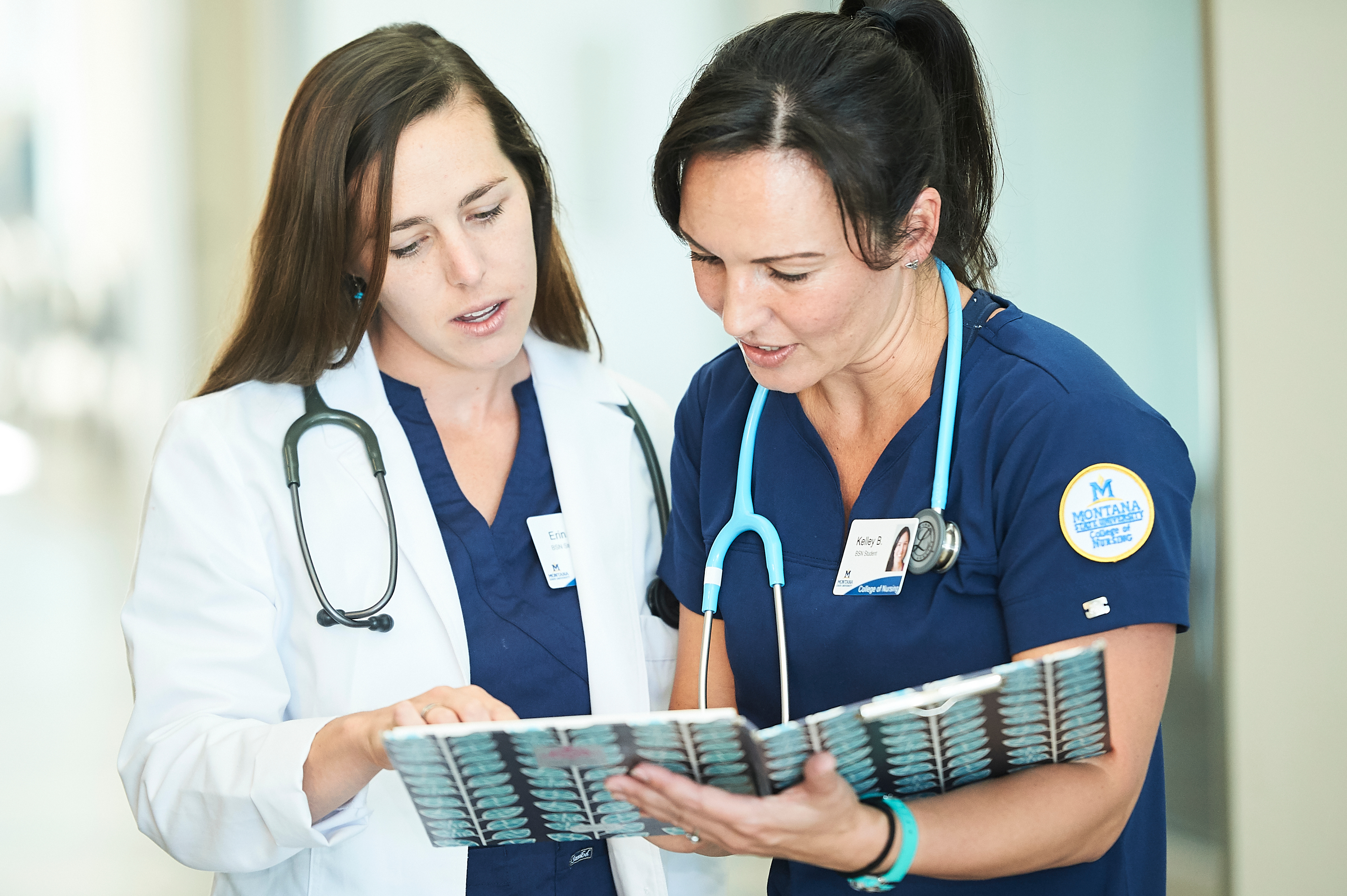 Two Nurses Looking at a Chart