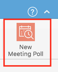 Screenshot of the New Meeting Poll icon located in the ribbon on Outlook after you've opened a new email message.