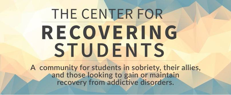 Center for Recovering Students Web Banner