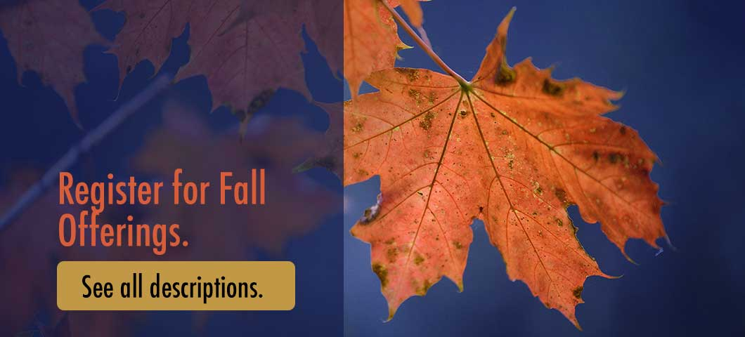 Register for Fall Offerings:  Click to See all Descriptions