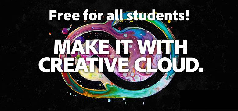 Adobe Creative Cloud free for all students