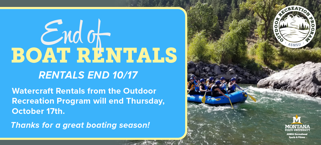 Boat and SUP rentals end for the season On October 17, 2019.