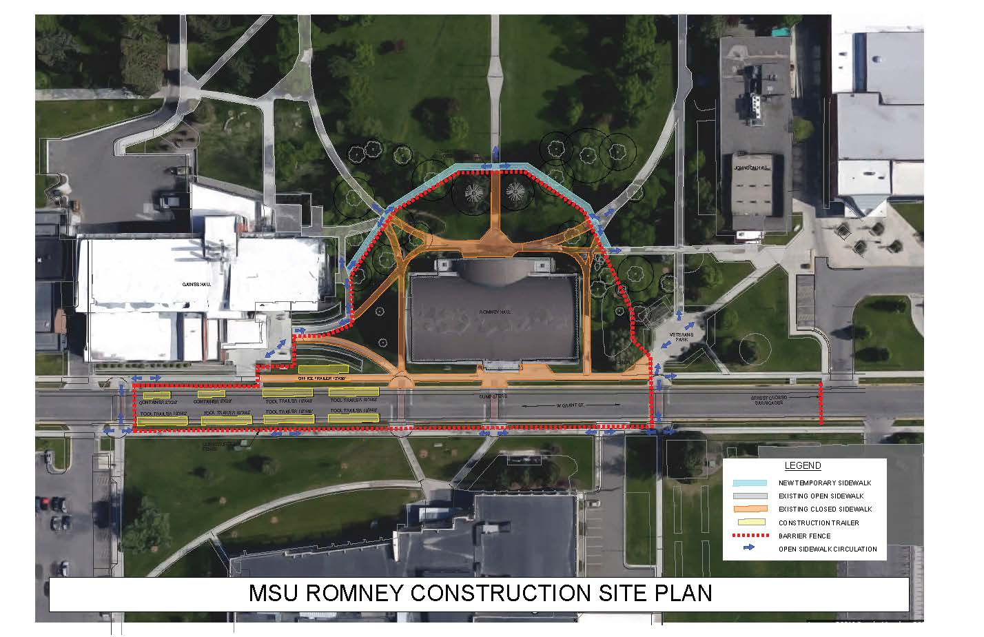 Romney Construction Site Plan