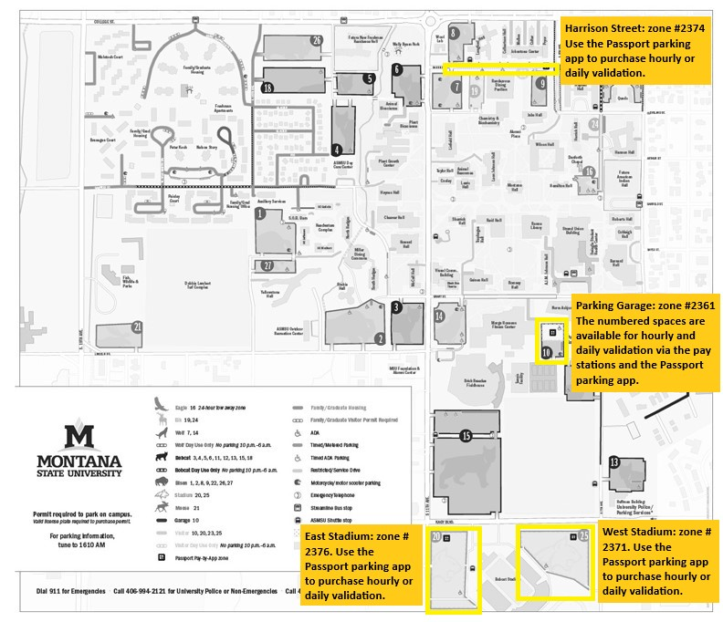 Directions - Parking Services | Montana State University