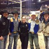 police at rodeo with cowboys