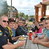 lunch with police officer