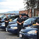police posing with their cars