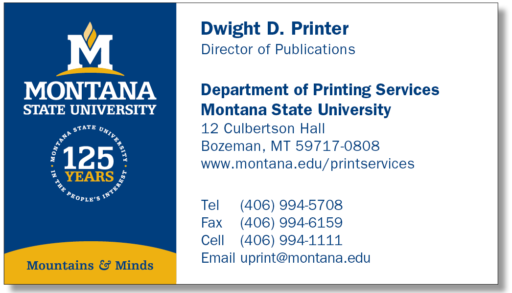 125th Anniversary Business Card