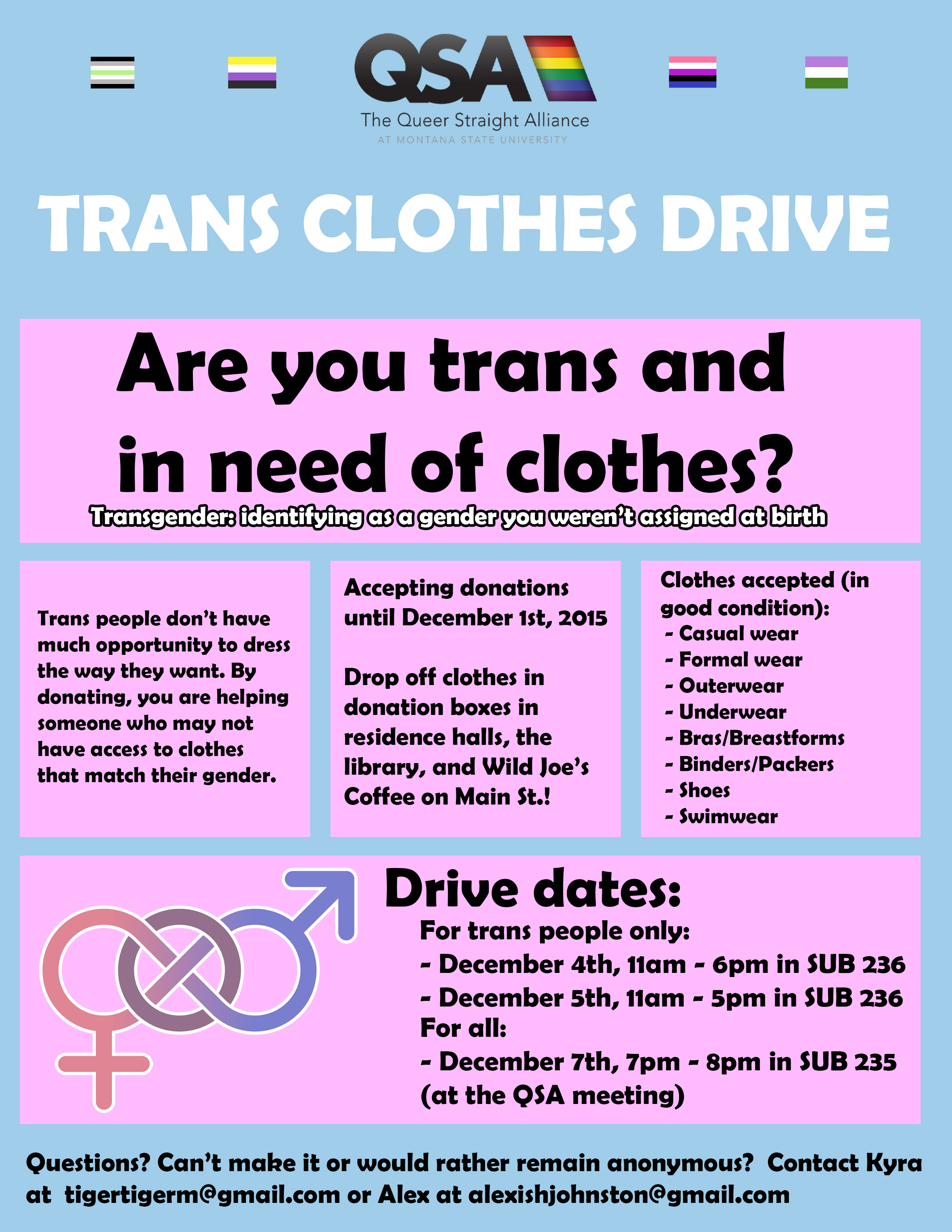 Trans Clothing Drive