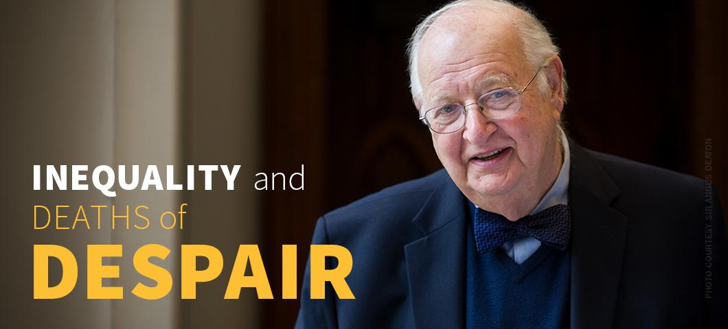 Sir Angus Deaton will discuss whether the modern economy is leaving a large number of working-class Americans behind and the impact of this trend on economic inequality and deaths by drugs, alcohol and suicide during a free public talk set for 7:30 p.m. Wednesday, Aug. 29, in Montana State University's Strand Union Building, Ballroom A. Photo courtesy of Angus Deaton.