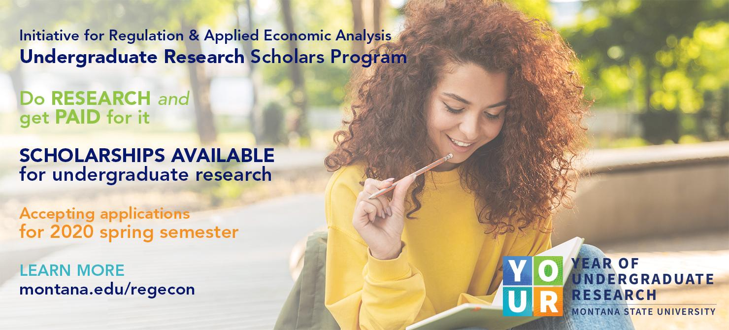 Undergraduate Research Scholarship applications for spring semester are being accepted through Jan. 27, 2020.