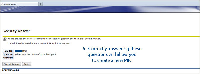 Answer Second Security Question