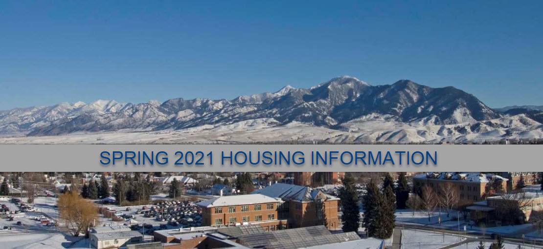 Spring 2021 Housing Information