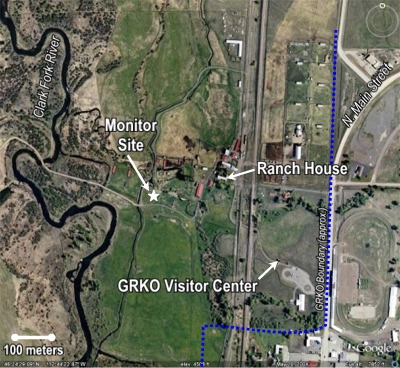 Monitor site, ranch house, GRKO Visitor Center layout