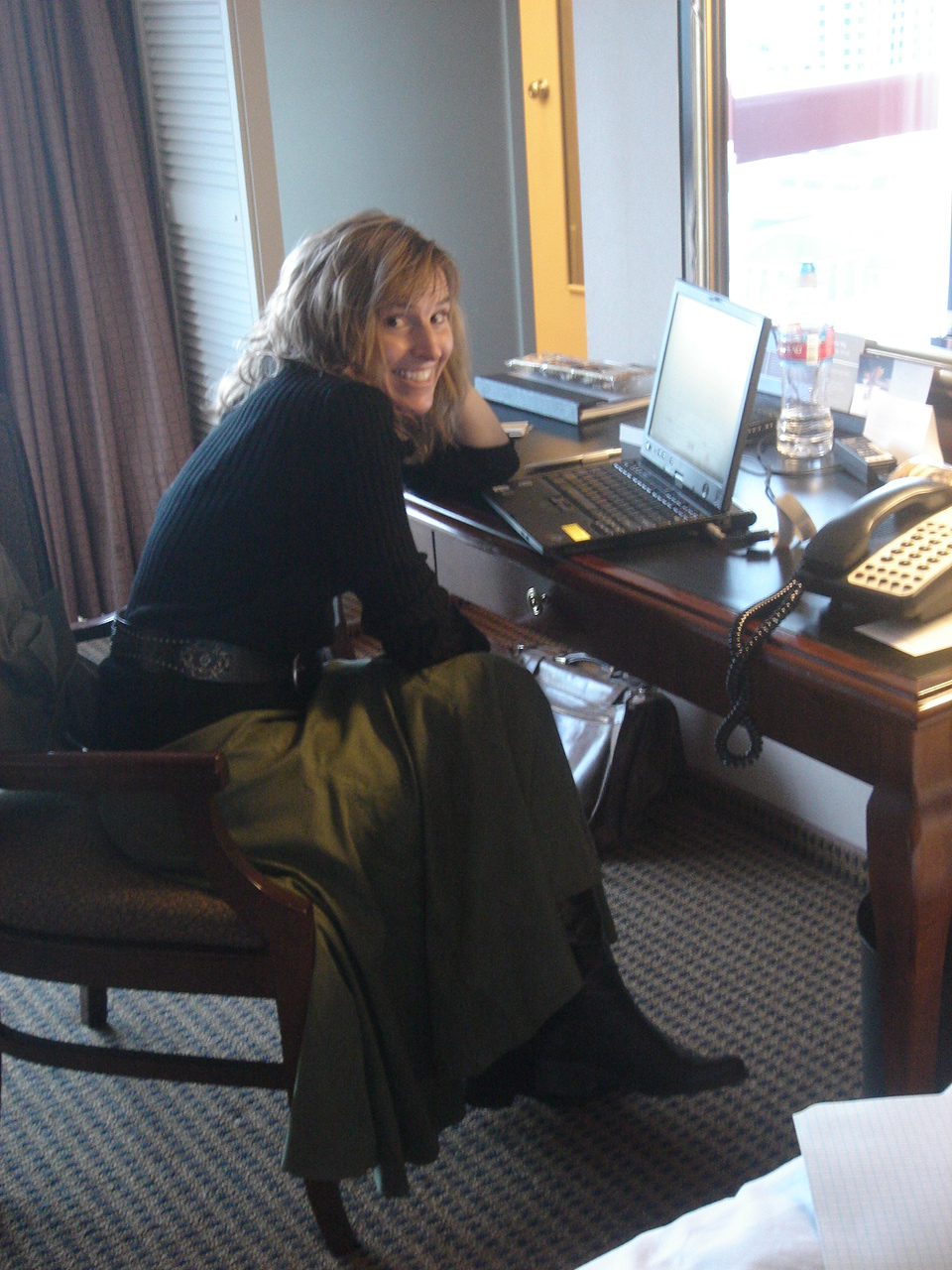 Wendy Stock at her desk