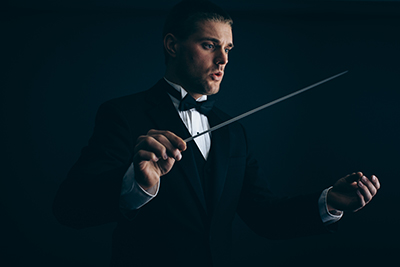 Andrew Major conducting