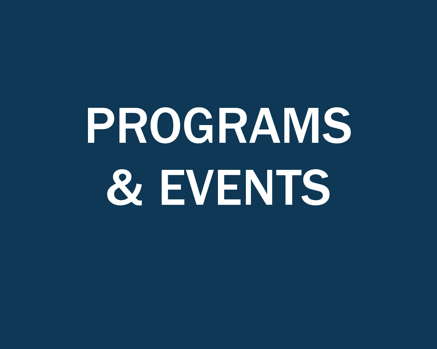 program and events