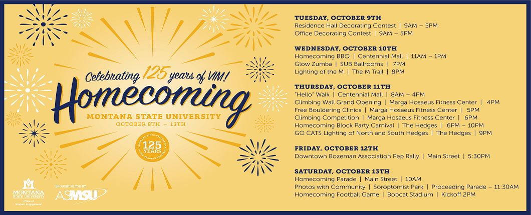 Join your fellow Bobcats celebrating 125 years of VIM!